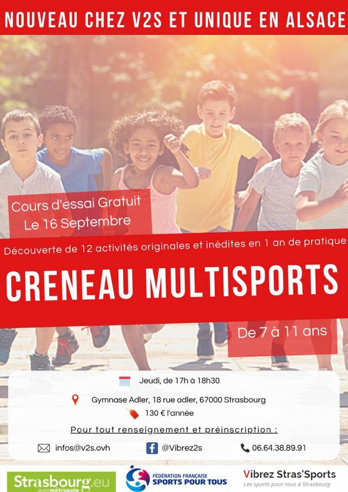 CRENEAU MULTISPORTS de 7 à 11 ans ! Les jeudis de 17h à 18h30 à ADLER, Strasbourg Robertsau.